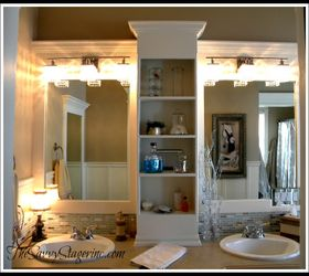 Framing Bathroom Mirrors With Crown Molding How To Frame A Builder Grade  Mirror (a Breakdown