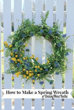 how to make a wreath for spring, crafts, seasonal holiday decor, wreaths, Make a Spring Wreath in Minutes