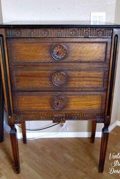 stylish secretary desk, painted furniture, Before