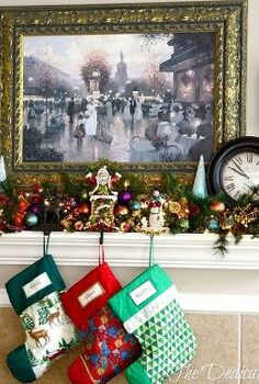 the christmas mantel 2013, home decor, seasonal holiday decor, Christmas Mantel 2013 at The Dedicated House