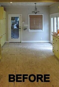 home decor painting a floor, flooring, hardwood floors, home decor, kitchen design, painting, BEFORE the hardwood floor was installed See the full story at