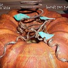 a bundt pan punkin, crafts, seasonal holiday decor