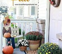 decorating our small front porch for fall, gardening, seasonal holiday decor