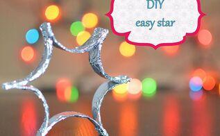 diy easy christmas decoration foil star, christmas decorations, crafts, seasonal holiday decor