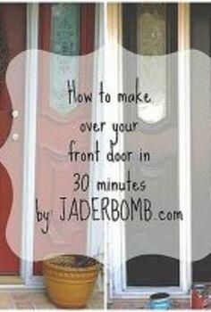 how to makeover your front door in 30 minutes, doors