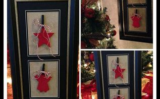 diy christmas art, crafts, decoupage, seasonal holiday decor, The finished DIY Christmas Art finished for a gift or your own home After Christmas remove and replace with photos of your family Use all year round