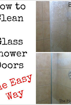 the pin junkie how to clean glass shower doors the easy way