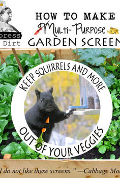 diy garden screens a multi purpose solution, diy, gardening, how to, raised garden beds, Full instructions and materials are listed on my blog