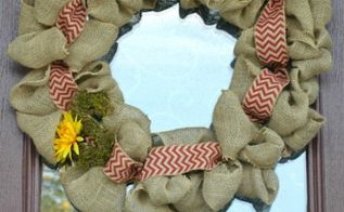 diy burlap wreath, crafts, porches, wreaths, DIY Burlap Wreath