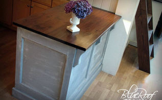 kitchen island built from an old door gets and update, painted furniture, Kitchen Island built from an Old Door