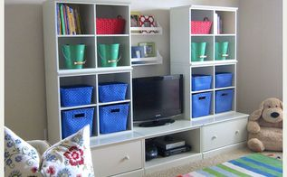 bright cheerful organized playroom, entertainment rec rooms, home decor