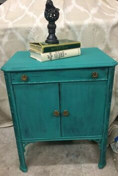 painted record cabinet, painted furniture