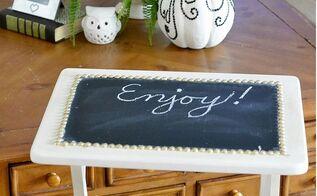 diy chalkboard tv trays, chalkboard paint, diy, painted furniture, reupholster