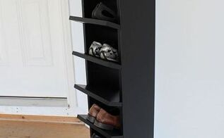 shoes organization garage shoe organization diy carpentry paint, diy, garages, organizing, storage ideas, woodworking projects, Our new shoe rack