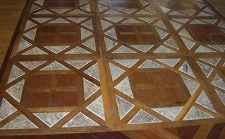 this is a hardwood floor we installed with a bordeaux pattern made of brazilian, flooring, hardwood floors