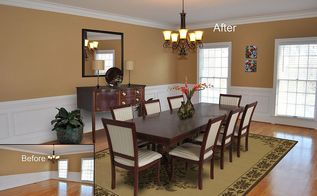 before amp after virtual staging photo of the week, dining room ideas, home decor, Virtual Staging of Dining Room