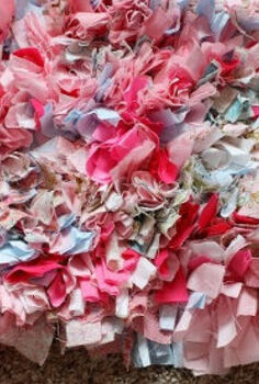 rag rug from scrap fabrics, crafts, reupholster