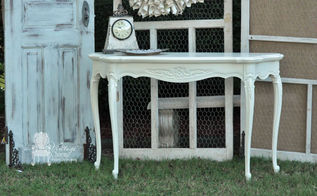 painted french accent tables, home decor, painted furniture, shabby chic, Maison Blanche Paints in custom mix with poly acrylic top coat