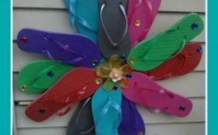 flip flop wreath tutorial, crafts, repurposing upcycling, wreaths, flip flops