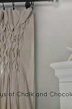 updated dining room curtains, home decor, reupholster, window treatments, Honeycomb smocking