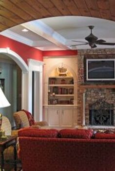 this was a fun project because it was unfinished basement for a few years when we, basement ideas, home decor, kitchen design, living room ideas, Terrace Level Family room