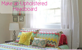 make your own upholstered headboard, bedroom ideas, home decor, painted furniture, reupholster, woodworking projects