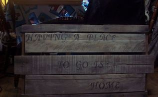 pallet wood to aged sign, pallet, repurposing upcycling