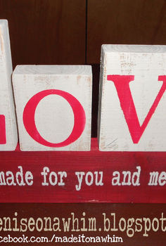 diy valentine decor from 2x4 scraps, chalk paint, crafts, seasonal holiday decor, valentines day ideas