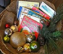 finding christmas inspiration, christmas decorations, seasonal holiday decor, Vintage Books and Dollar Store Balls