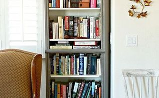 built in bookshelves from closet organizers, home decor, living room ideas, repurposing upcycling, storage ideas