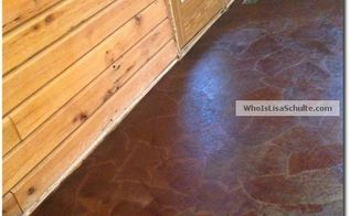 my brown paper bag floor, diy, flooring, how to, tile flooring