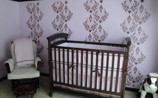 a different take on the chevron a nursery renovation, bedroom ideas, electrical, painting, The accent wall