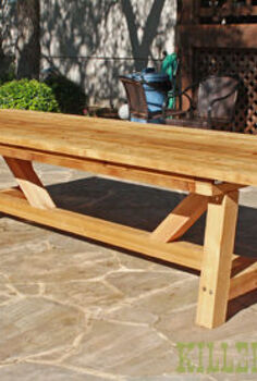 cedar provence table knockoff for 230, diy, outdoor furniture, painted furniture, woodworking projects, 10 Cedar RH Provence Table knockoff