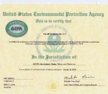 what s the deal with lead based paint and why should anyone be concerned, go green, painting, This is an example of an EPA Firm Certification that anyone working in a pre 1978 home must possess