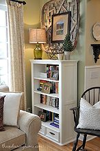 children s bookcase makeover, home decor, living room ideas, painted furniture, repurposing upcycling