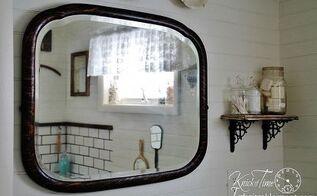 farmhouse bathroom remodel, bathroom ideas, home decor, home improvement, This antique mirror is perfect for an old farmhouse bathroom