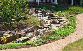 ponds pondless waterfall koi ponds outdoor living water features water gardening, outdoor living, ponds water features, The finished product A wonderful Pondless Waterfall to accent your yard