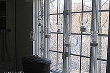 mson jar window treatment, crafts, mason jars, window treatments