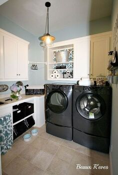 inexpensive laundry room makeover, home decor, laundry rooms