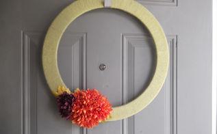 diy summer wreath, crafts, home decor, wreaths