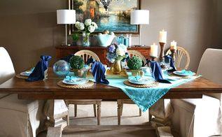 summer tablescape peacock napkin fold, home decor, living room ideas