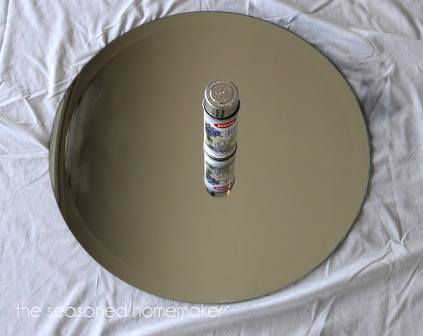 Diy faux antique glass mirror hometalk for Glass and mirror craft