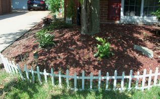 you have the edge landscaping the small space along the driveway, landscape, perennial