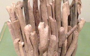drift wood candle diy, crafts