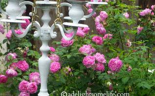 candelabra bird feeder, gardening, repurposing upcycling