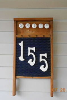 entry, crafts, curb appeal, New House Number Plaque