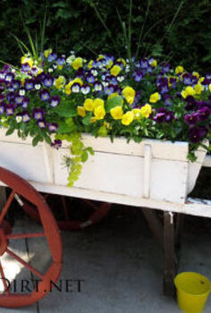 creative and unusual containers for the garden, container gardening, gardening, raised garden beds, repurposing upcycling, succulents, Farm cart planter I love it