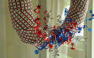 the fireworks 4th of july wreath, crafts, patriotic decor ideas, seasonal holiday decor, wreaths