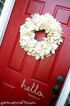 super easy burlap wreath, crafts, seasonal holiday decor, wreaths, burlap wreath