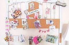 repurposed old bed headboard, cleaning tips, crafts, painted furniture, repurposing upcycling, Here is my blog bulletin board made from a twin bed I clip magazines etc